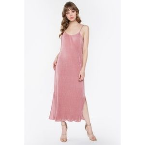 Sugarlips Pink Giselle Pleated Maxi Dress